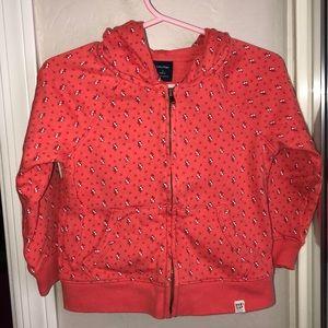 Baby Gap orange hooded sweatshirt